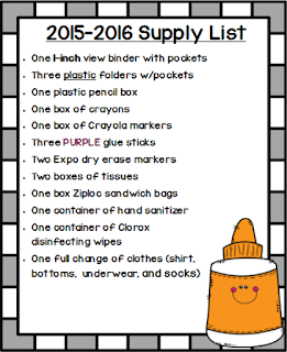 Special Education Classroom Supply List